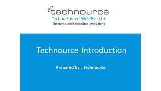 Technource Introduction - Web & Mobile Apps Development Company