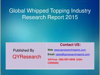 Global Whipped Topping Market 2015 Industry Trends, Analysis, Outlook, Development, Shares, Forecasts and Study