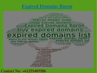 Buy Cheap Expired Domains From Expired Domains Baron