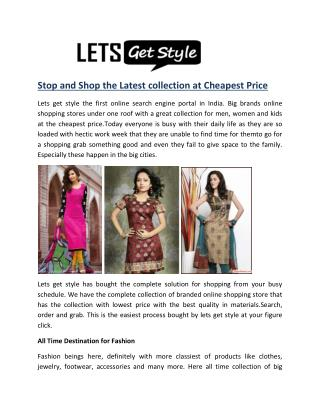 Online shopping with lets get style- letsgetstyle.com