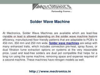 Solder Wave Machine