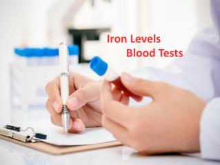 Iron Levels Blood Tests