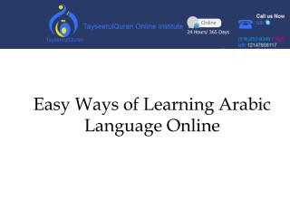 Easy Ways of Learning Arabic Language Online