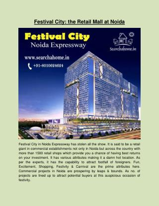 Festival City: the Retail Mall at Noida