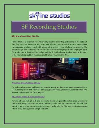 SF Recording Studios