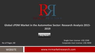cPDM Market in the Automotive Sector 2015 – 2019: Worldwide Forecasts and Analysis