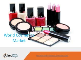 Cosmetics Market is huge market to invest & grow.