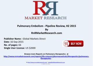 Pulmonary Embolism Pipeline Review H2 2015