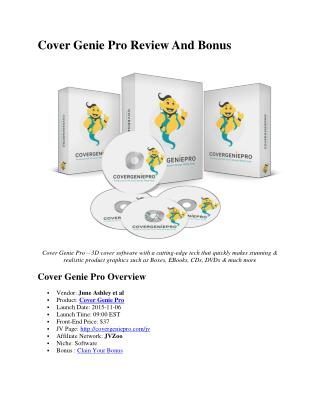 Cover genie pro review and Bonus