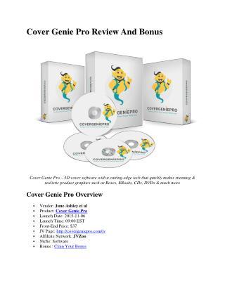 Cover genie pro review and Bonus