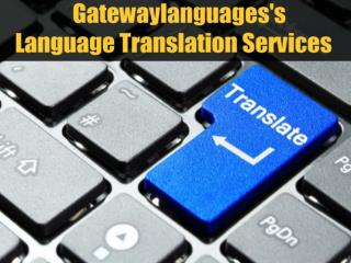 Gatewaylanguages's Language Translation Services