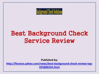 Best Background Check Service Review