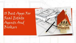 Top 10 apps for real estate agents