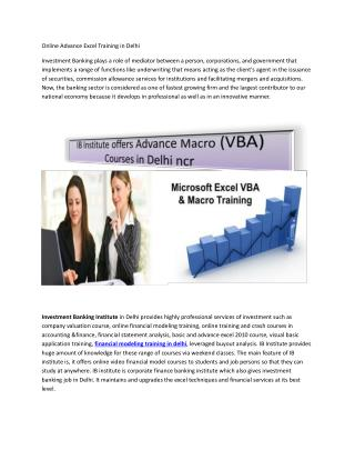 Online Advance Excel Training in India