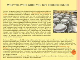 What to avoid when you buy cookies online