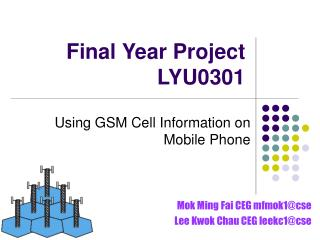 Final Year Project LYU0301
