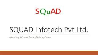 SQUAD Infotech Software Testing Training Institute
