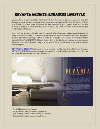 Revanta Heights Enhances Lifestyle