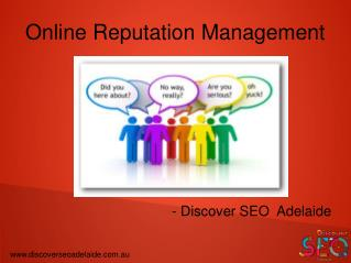 How does Online Reputation Management work - Discover SEO Adelaide