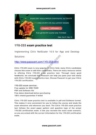 Citrix 1Y0-253 exam practice test