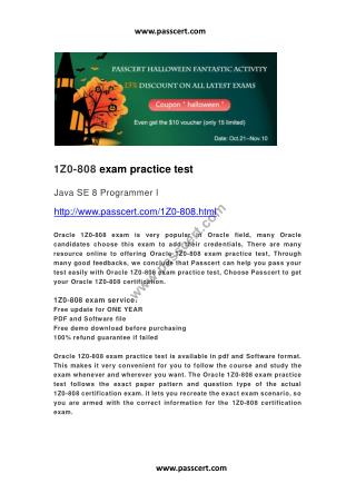Oracle 1Z0-808 exam practice test
