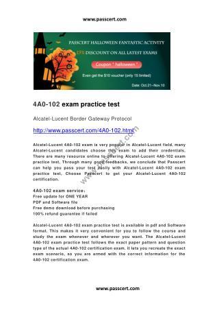 Alcatel-Lucent 4A0-102 practice test