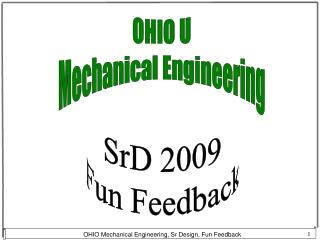 OHIO U Mechanical Engineering