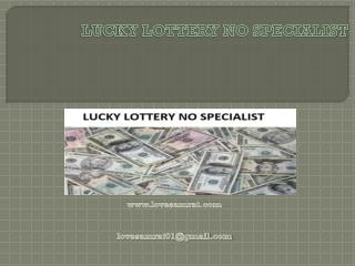 With Guarantee Get Lucky Lottery No Specialist