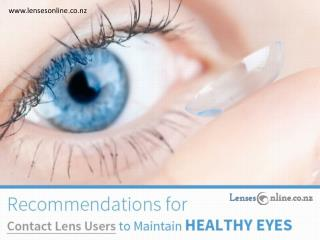 Tips to Maintain Contact Lenses