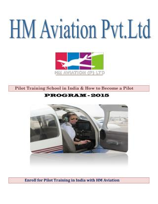 Enrol for Pilot Training in India with HM Aviation