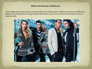 H&M and Balmain Collaborate