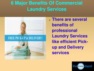 6 Major Benefits Of Commercial Laundry Services