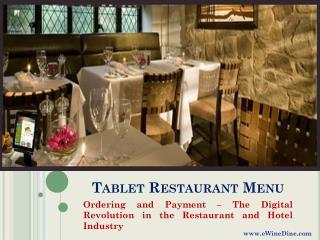 eWineDine | Tablet Restaurant Menu App