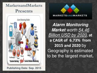 Alarm Monitoring Market by Communication Technologies & Component - 2020