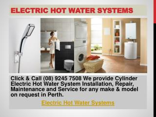 Electric Hot Water Systems