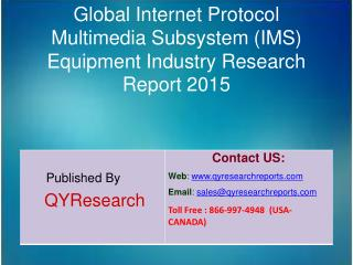 Global Internet Protocol Multimedia Subsystem (IMS) Equipment Market 2015 Industry Growth, Trends, Development, Research
