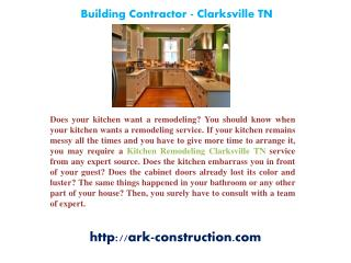 Bathroom Remodeling Clarksville TN, Building Contractor - Clarksville TN, Home Additions Clarksville TN