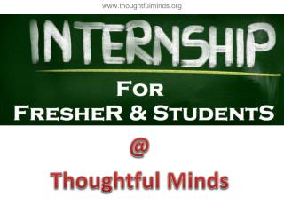Job oriented Internship / industrial training program by Thoughtful Minds an IT company for students / freshers in Jaipu