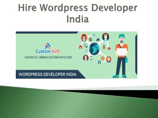 Hire Wordpress Developer India