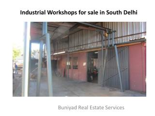 Industrial Workshops at high business areas