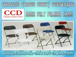 Chiavari Chairs Direct Presenting Beige Poly Folding Chair
