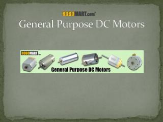 General Purpose DC Motors | Robomart
