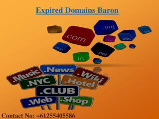 Buy High Qulity Expired Domains From Expired Domains Baron