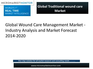 Traditional Wound Care Market forecast, 2014-2019