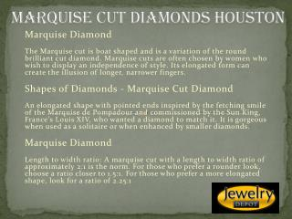 Marquise Cut Diamonds Houston