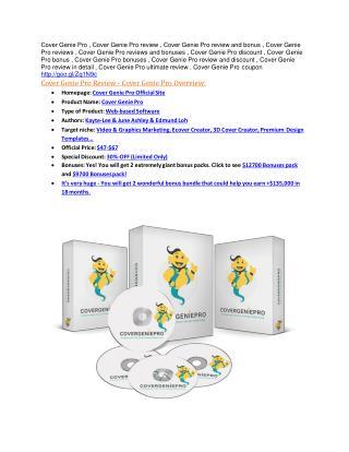 Cover Genie Pro review demo-Cover Genie Pro FREE bonus