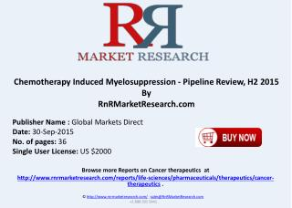 Chemotherapy Induced Myelosuppression Pipeline Review H2 2015