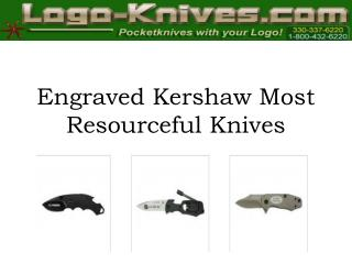 Engraved Kershaw Most Resourceful Knives
