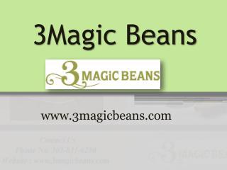 Ecommerce Websites Design: www.3magicbeans.com