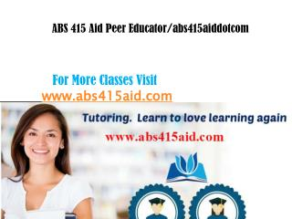 ABS 415 Aid peer Educator/abs415aid.com
